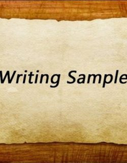 Writing Sample是什么?Writing Sample怎么写?